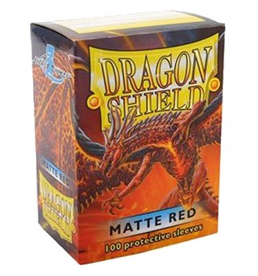 Fundas Red Matte Dragon Shield - La Caverna de Voltir