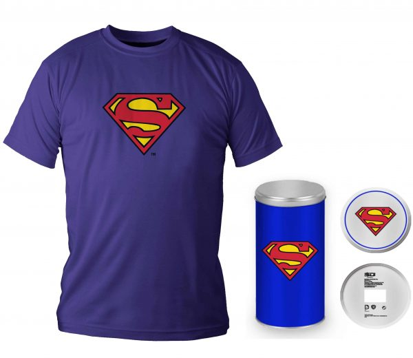 Superman camiseta con lata T- L