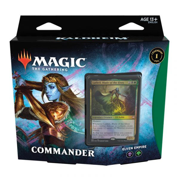 Mazo Commander Kaldheim - Elven Empire - Magic the Gathering - La Caverna de Voltir
