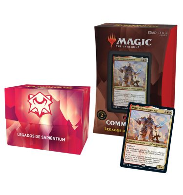 Mazo Legados de Sapiéntum Commander Strixhaven - Español- Magic the Gathering - La Caverna de Voltir