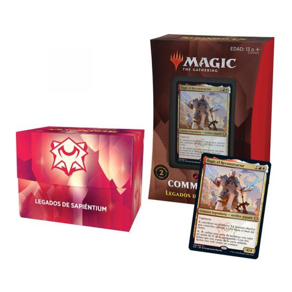 Mazo Legados de Sapiéntum Commander Strixhaven - Español- Magic the Gathering - La Caverna de Voltir