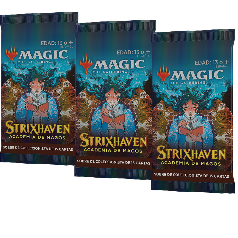Strixhaven: Academia de Magos 3 Sobres Coleccionista - Magic the Gathering - La Caverna de Voltir