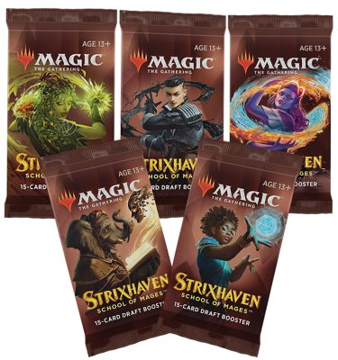 Strixhaven Academia de Magos- 5 Draft Booster (inglés) - Magic the Gathering - La Caverna de Voltir