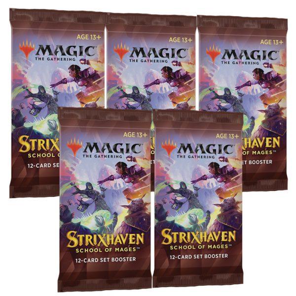 Strixhaven Academia de Magos 5 Sobres de Edición (inglés)- Magic the Gathering - La Caverna de Voltir
