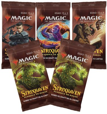 Strixhaven Academia de Magos- Caja 5 Sobres de Draft (español) - Magic the Gathering - La Caverna de Voltir