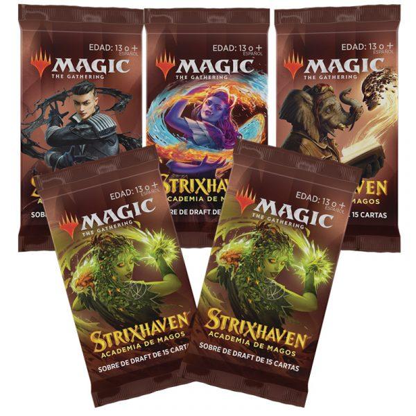 Strixhaven Academia de Magos- Caja 5 Sobres de Draft (español) - Magic the Gathering - La Caverna de Voltir