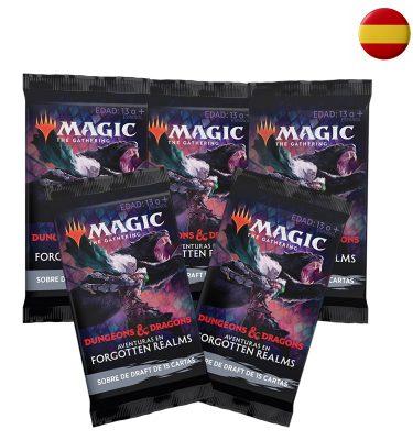 5 Sobres Draft de Aventuras en Forgotten Realms Español - Magic the Gathering - La Caverna de Voltir