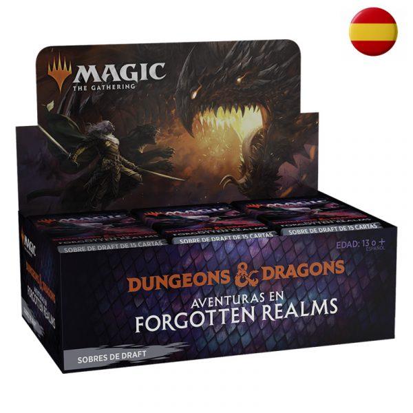 Caja Sobres Draft de Aventuras en Forgotten Realms (36) español - Magic the Gathering - La Caverna de Voltir