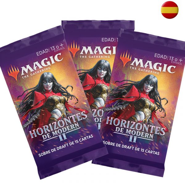 3 sobres Draft Horizontes de Modern español- Magic the Gathering