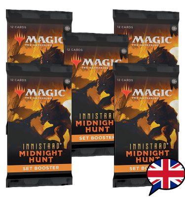 5 sobres edición set booster innistrad midnight hunt