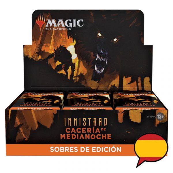 caja sobres edición innistrad cacería de medianoche español