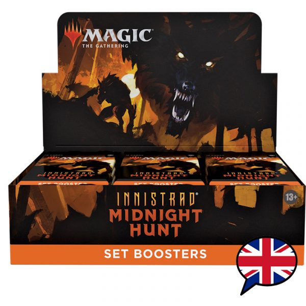 caja sobres edición innistrad midnight hunt inglés