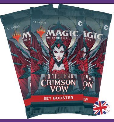 3 Set Booster Crimson Vow MtG La Caverna de Voltir